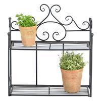 esschertdesign Esschert Design inklapbare plantenetagere twee treden