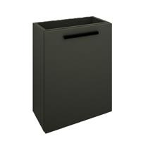 Douche Concurrent Toiletmeubel Marmaris Onderkast 40x22x50cm MDF Gelakt Mat Zwart