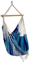 Vivere Braziliaanse hangstoel (Kleur: lichtblauw/donkerblauw)