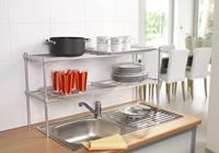 Variabele stapelplank, voor de keuken, zilverkleurig