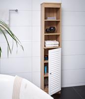 Badkamerkast met 6 planken afm. 34 x 26 x 170 cm