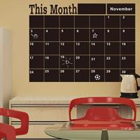 Dennisdeal Blackboard Wall Stickers This Month Schedule Timetable DIY Calendar Wall Decal Home Decor