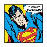 Pyramid Superman Looks Like A Job For Kunstdruk 40x40cm
