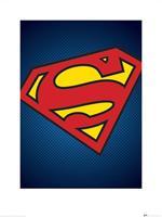 Pyramid DC Comics Superman Symbol Kunstdruk 60x80cm