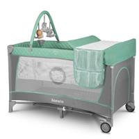 Lionelo Travel Cot Flower Turquoise