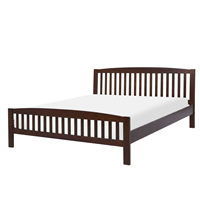 Beliani Bed hout donkerbruin 160 x 200 cm CASTRES