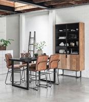 D-Bodhi 24Designs Beam Timeless Countertafel - B80 X L150 X H90 Cm - Teakhout Zwart