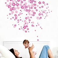 DIY mode zelfklevende PVC verwijderbare muurstickers / huis interieurdecoratie foto's - bloem, afmeting: 70cm x 50cm