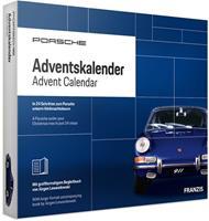 Franzis adventkalender Porsche 911 blauw 28 delig