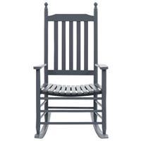 vidaXL Schommelstoel met gebogen zitting populierenhout grijs