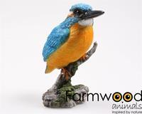 Eigen merk Farmwood ijsvogel op stam 9x9x15cm