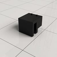 Douche Concurrent Stabilisatiestang Haakse Glaskoppeling Slim Mat Zwart