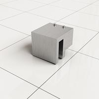 Douche Concurrent Stabilisatiestang Haakse Glaskoppeling Slim RVS-Look
