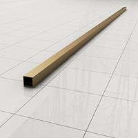 Douche Concurrent Stabilisatiestang Slim Los 120cm Vierkant Geborsteld Goud