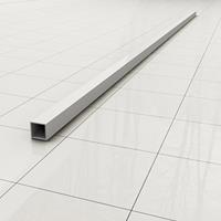 Douche Concurrent Stabilisatiestang Slim Los 120cm Vierkant Mat Wit