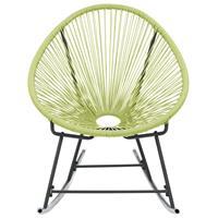 vidaXL Tuinmaanstoel schommelend poly rattan groen
