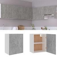 vidaXL Hangkast 50x31x60 cm spaanplaat betongrijs