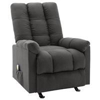 vidaXL Massagestoel verstelbaar stof donkergrijs