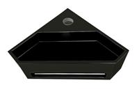 Mueller Viggo hoekfontein solid surface 35x35x16cm mat zwart