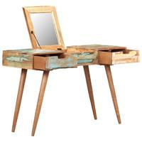 vidaXL Kaptafel met spiegel 112x45x76 cm massief gerecycled hout
