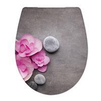 Douche Concurrent Toiletbril Cedo Orchid en Stone Print Duroplast Softclose en Quickrelease Toiletzitting