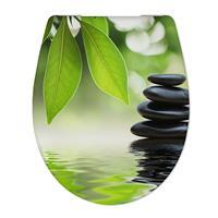 Douche Concurrent Toiletbril Cedo Welness en Stone Print Duroplast Softclose en Quickrelease Toiletzitting