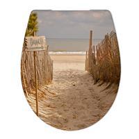 Douche Concurrent Toiletbril Cedo Beach Path Print Duroplast Softclose en Quickrelease Toiletzitting