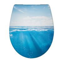 Douche Concurrent Toiletbril Cedo Deep sea Print Duroplast Softclose en Quickrelease Toiletzitting