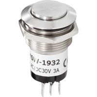 Renkforce RF-4707810 Belknop 1-voudig RVS 24 V/1 A