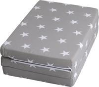 Roba matras Little Stars campingbed 60 x 120 cm polyester grijs