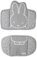 Roba stoelverkleiner Miffy junior polyester grijs/wit 2 delig