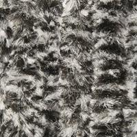 Wicotex Vliegengordijn-kattenstaart-caravan- 56x180 Cm Zwart Wit Mix