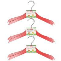 Stevige Kledinghangers Voor Kinderen 12x Stuks Hout - Klerenhangers Rood
