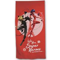 Miraculous Strandlaken Super Heroes - 70 X 140 Cm - Polyester