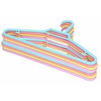 12x Pastel Gekleurde Kledinghangers 27 Cm Voor Kinderkleding - Kledingkast - Kunststof Klerenhangers - Kledinghangertjes