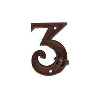 Huisnummer 3 gietijzer