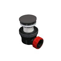 Mondiaz Easy klikplug met sifon ruimtebesparend Solid Surface - DarkGrey