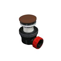 Mondiaz Easy klikplug met sifon ruimtebesparend Solid Surface - Rust