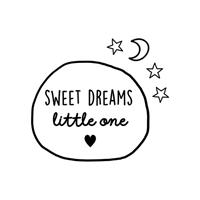 Label2X Muursticker sweet dreams little one