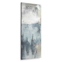 Schilderij Urbelina canvas in blauw en wit 50 x 120 cm