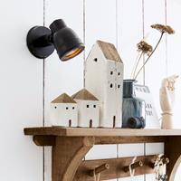 LOBERON Decoratie huisjes set van 3 Lormont