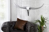 Invicta Interior Decoratie Gewei Bull Zilver 99cm - 8913