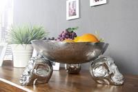 Decoratie Fruitschaal 15cm Zilver - 22917