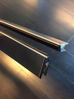 set magneetstrips voor 8mm swingdeur en wand