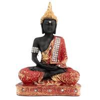 Mediterende Boeddha Geschilderd (23 cm)