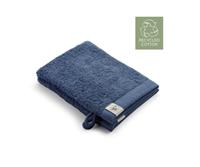 Walra 2x washandjes - Remade Cotton - Blauw - 16x21cm  - 550 gram - Katoen / Organic