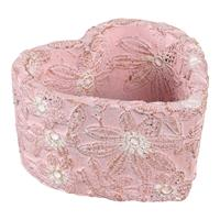 PTMD Freesia Pink cement bowl heartshape flower high S