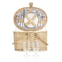 Complete Picknickmand Met Koelvak - 2 Pers 12delig - Incl Servies En Bestek