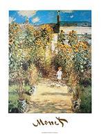 PGM Claude Monet - The Monet's Garden at Vétheuil Kunstdruk 50x70cm