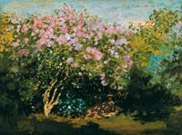 PGM Claude Monet - Blühender Flieder in der Sonne Kunstdruk 80x60cm
